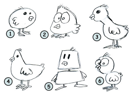 How to draw a cartoon chicken step 4