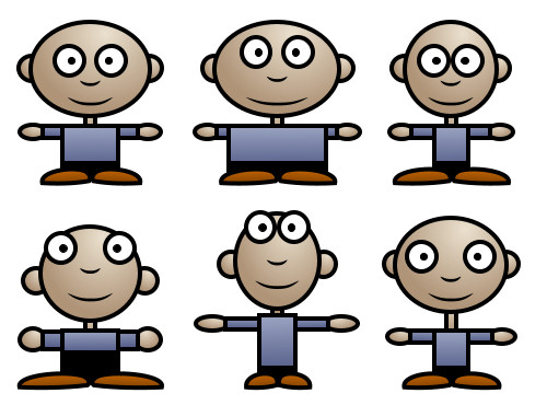 Cartoon Characters Using Shapes : Learn to draw people with various shapes