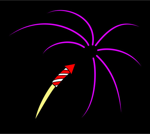 how to draw fireworks step by step easy