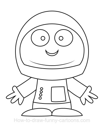 how to draw a space suit easy