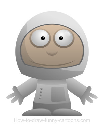 Astronaut cartoon