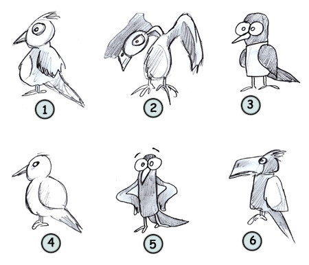 Drawing Cartoon Birds