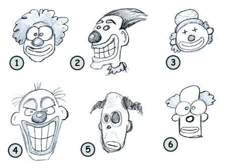 Go back from How to draw cartoon clowns to home page