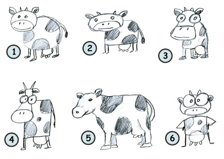 How to draw cartoon cows step 4