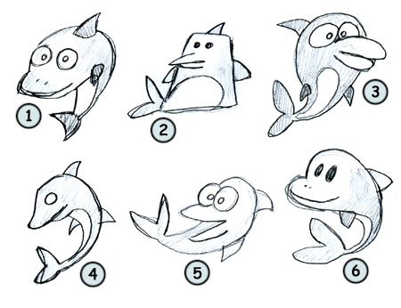 how to draw a dolphin look