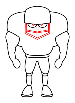 cartoon football player