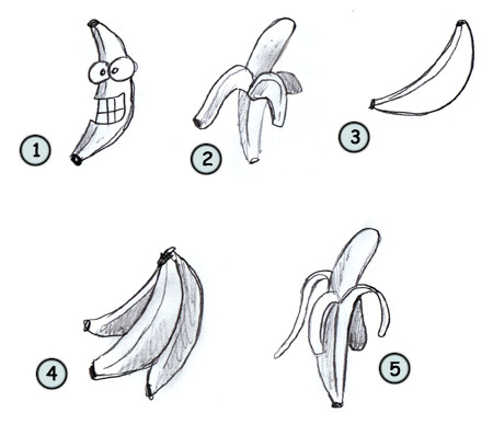 Fruit Sketch Drawing How to Draw Cartoon Fruit Step