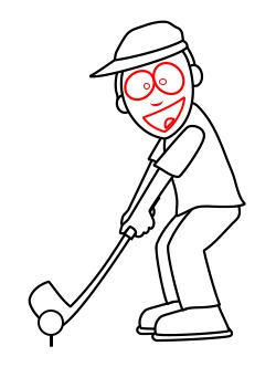 cartoon golfer