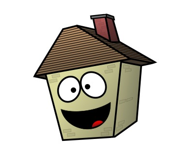 Drawing a cartoon house for How to draw a cute house