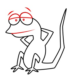 Drawing A Cartoon Lizard