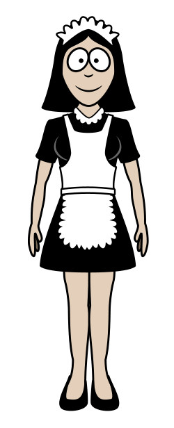 cartoon-maid
