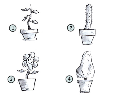 how to draw cartoon plants step 4