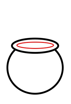 how to draw a pot