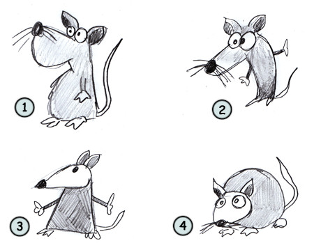 How to draw cartoon rats step 4