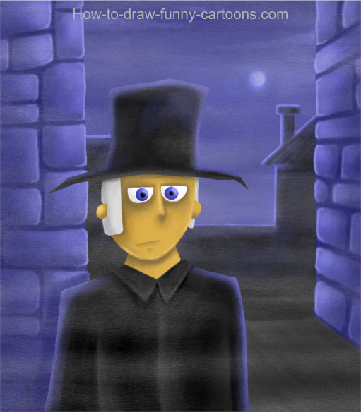 Cartoon Scrooge Cartoon Painting