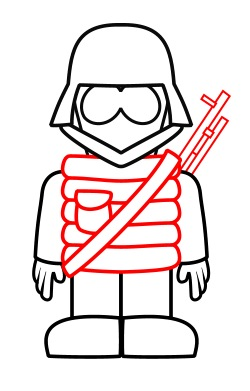 how to draw a soldier for kids step by step