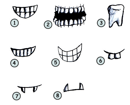 Sharp Teeth Drawing How to Draw Cartoon Teeth Step