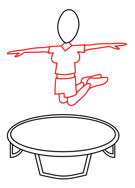 cartoon trampoline