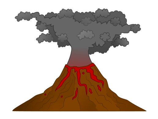 Image result for cartoon volcano