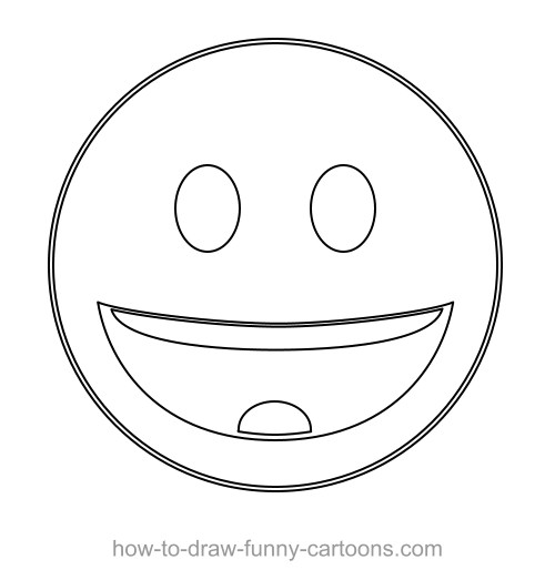 D Shape Line Drawings : Drawing a custom vector smiley