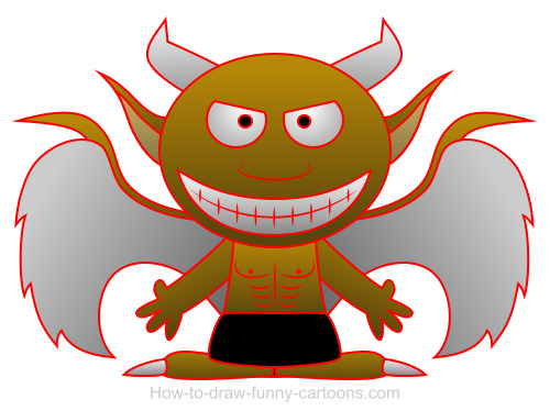 Demon cartoon
