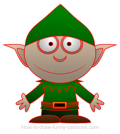Elf cartoon