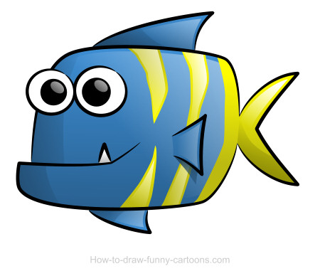 Cartoon Fish Face Cartoon Fish Drawings