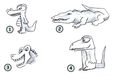 how to draw a crocodile step 4
