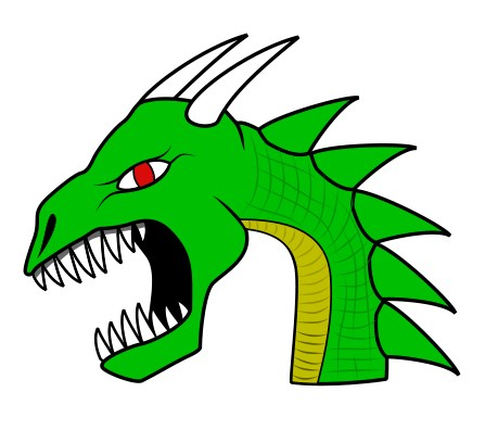 how to draw a dragon, dragon's head