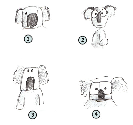 How to draw a koala step 4