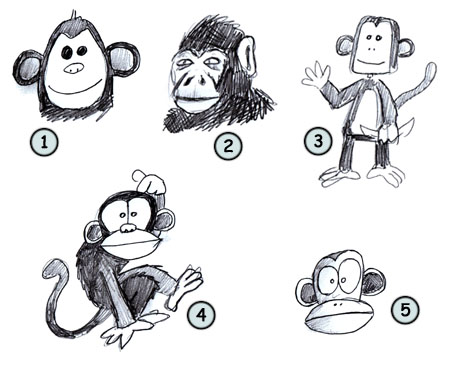 how-to-draw-a-monkey step 4