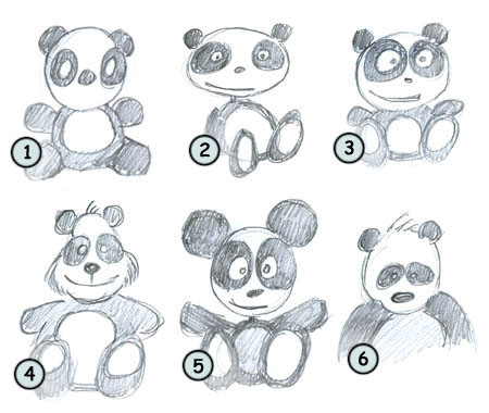 How to draw a panda step 4