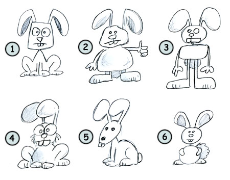 How to draw a rabbit step 4