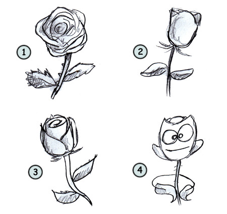 How to draw a rose step 4