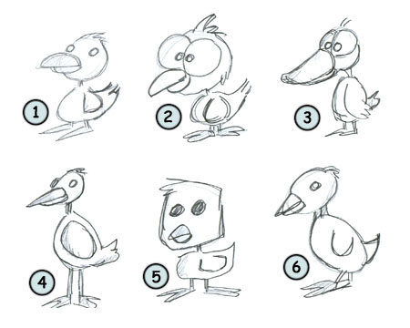 how to draw cartoon ducks step 4