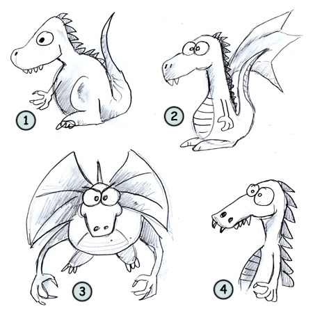 cartoon images of dragons. Go back to How to draw cartoon characters · Go back from How to draw dragons