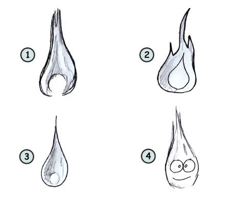 How to draw flames step 4