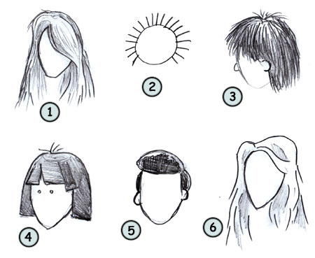 How to draw hair step 4