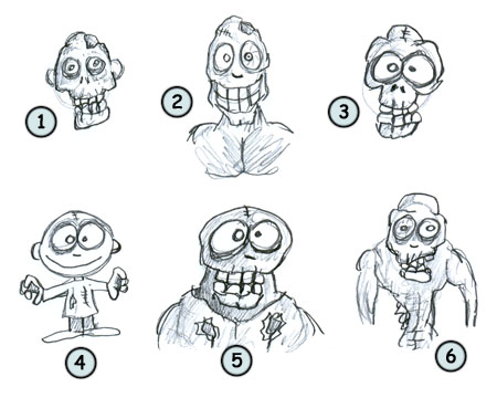 How to draw zombies!