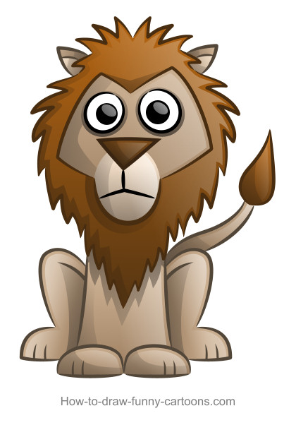 Cute lion drawing - photo#16