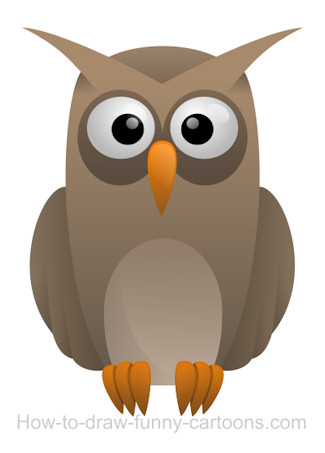 Drawing an owl cartoon for Owl beak drawing