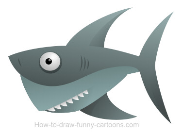 Drawing a shark cartoon