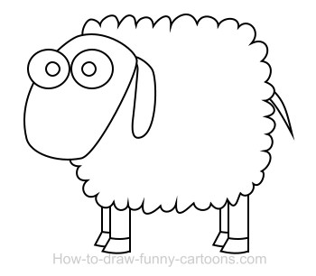 How to draw a sheep - photo#16