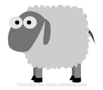Drawing A Sheep Cartoon