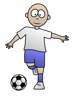 drawing a soccer cartoon player