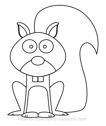 Drawing a squirrel cartoon