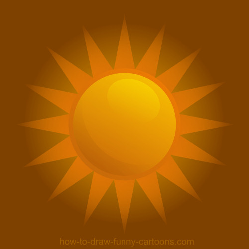 Drawing A Sun Vector Illustration