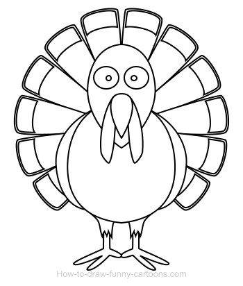 Drawing a turkey cartoon