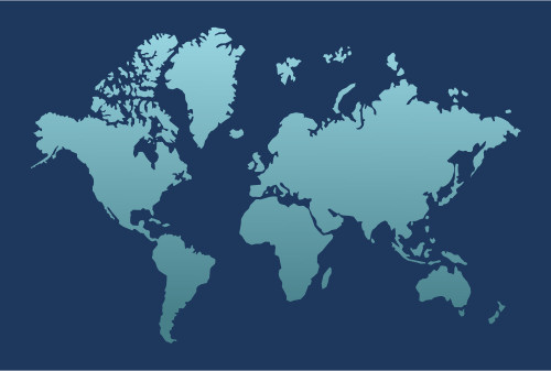 Drawing a world map vector illustration