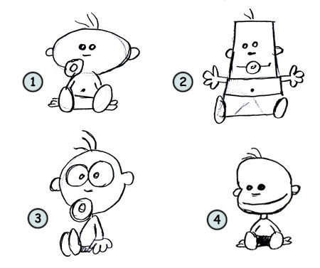How to draw cartoon babies step 4